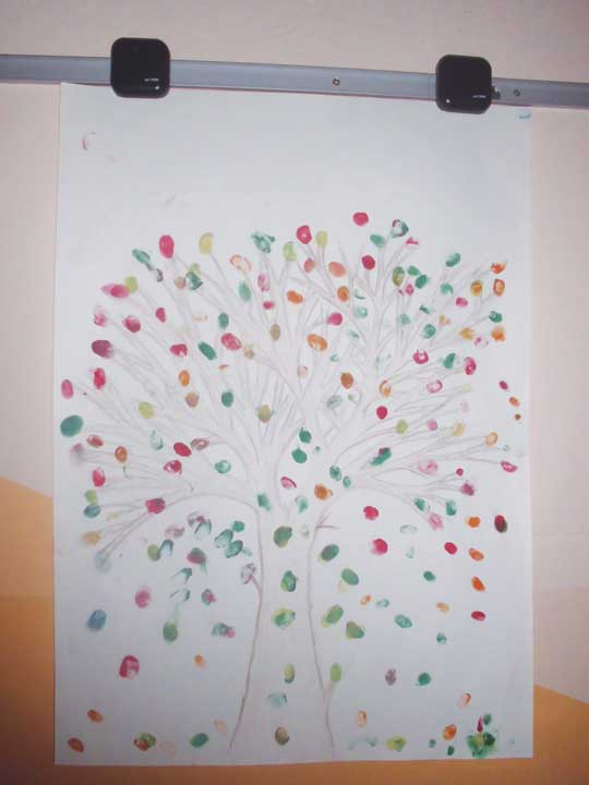 A drawing created by refugee children © Rachel Bowden