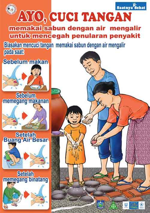 Example of a poster showing the importance of handwashing
