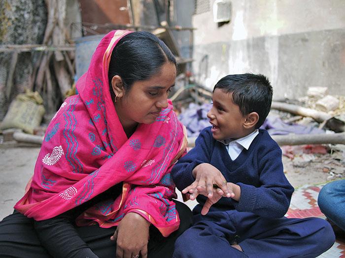 Resource parent teaching her own child
