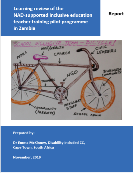 Cover of report includes drawing of bicycle