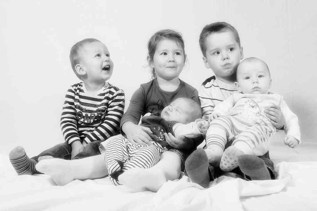 foto's kinderen thuis