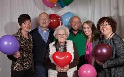 Ballonnen bij de fotoshoot