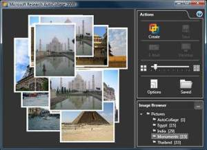 Microsoft AutoCollage image preview pane