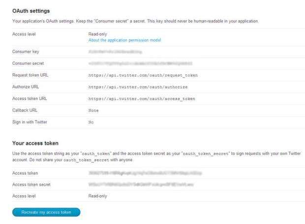Twitter-oAuth-Settings