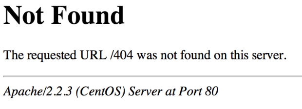 Apache 404 Not Found