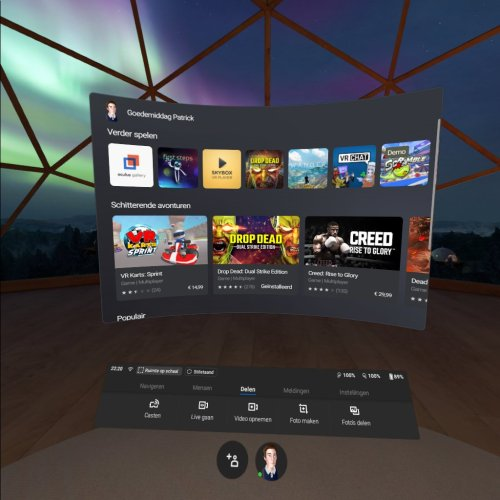 Oculus Quest - Menu