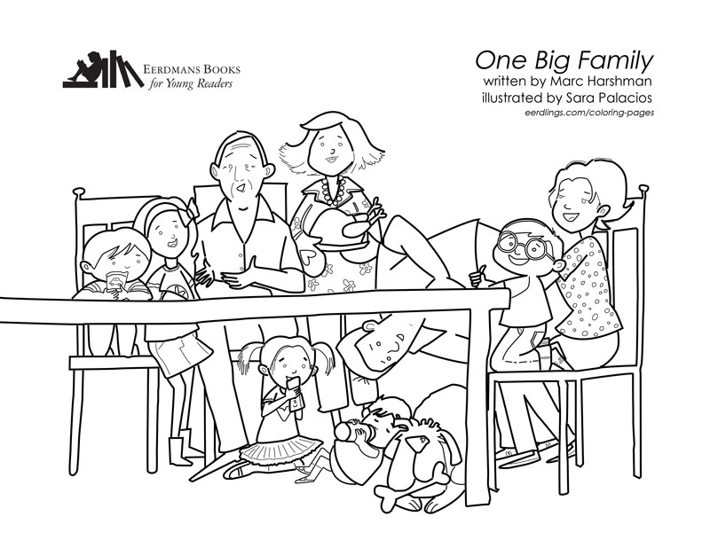 One Big Family coloring page