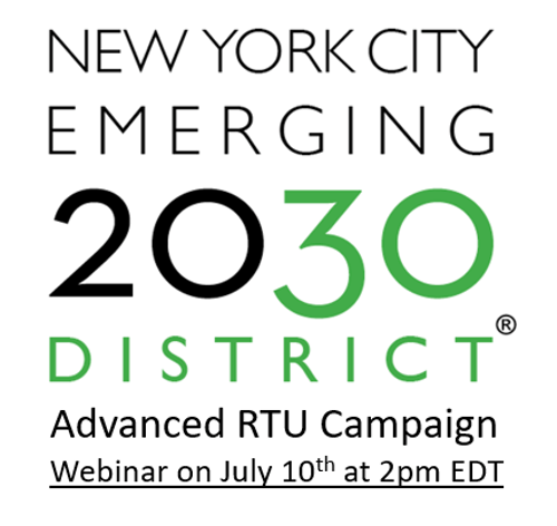 NYC 2030 District Advanced RTU Campaign Webinar on July 10th at 2:00 PM EDT