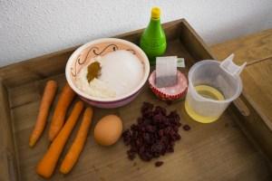 ingrediënten voor oranje muffins