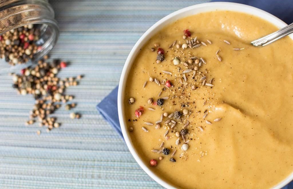 geroosterde groenten soep