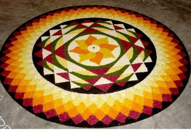 latest pookalam kerala design