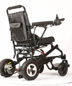 EeZeeGo-LW1 Folding Electric Wheelchair Back-side