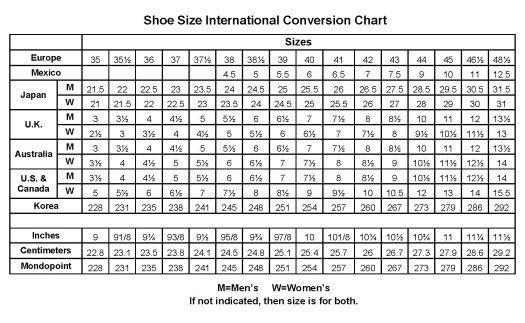 Us To Euro Shoe Size