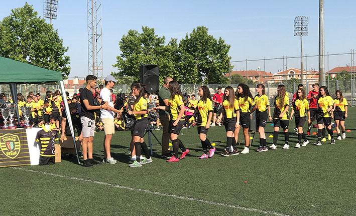 Nuestro equipo Femenino en el acto de Clausura 2016-17