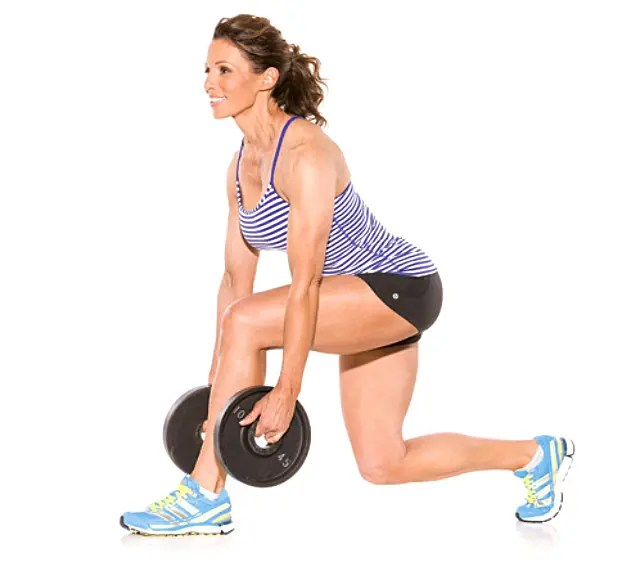 Mujer haciendo squat