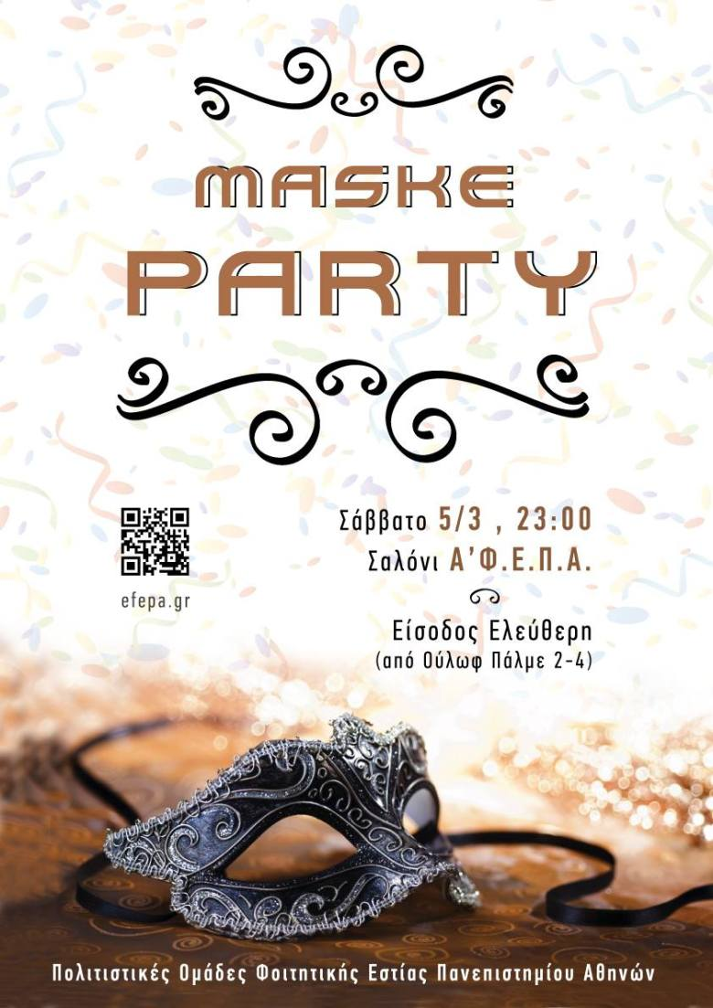 Maske party 5/3