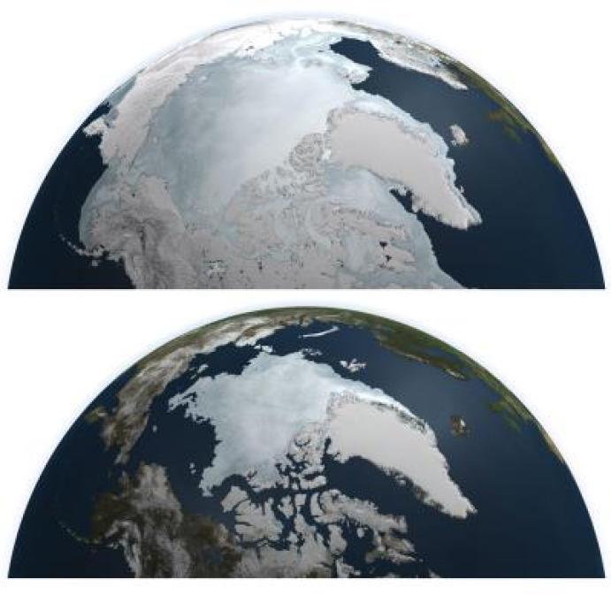 Resultado de imagen de deshielo artico 2016