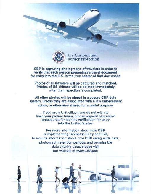 Another example of signage CBP gave us as a response to our letter.