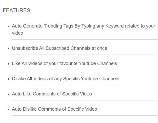 efface youtube bot