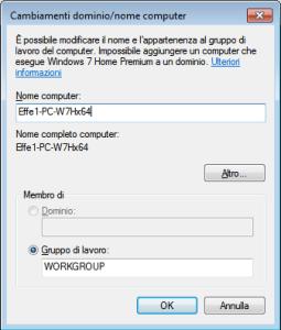 Windows 7 - Impostazione nome PC