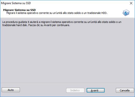 Aomei Partition Assistant - Migrare Sistema su SSD - Inizio