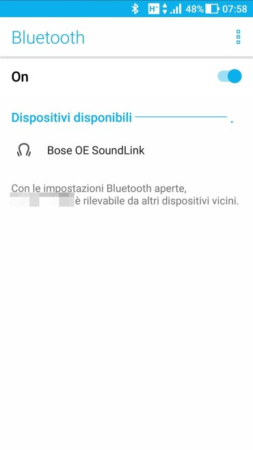 Android - Bluetooth Dispositivi Disponibili