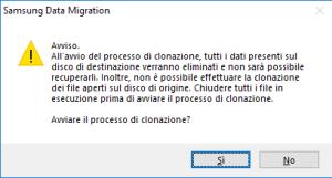Samsung Data Migration - Avviso