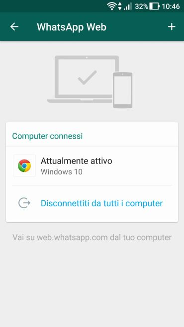 WhatsApp - Dispositivi Connessi