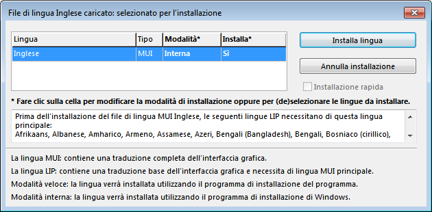 Windows 7 - Vistalizator - File di lingua caricata