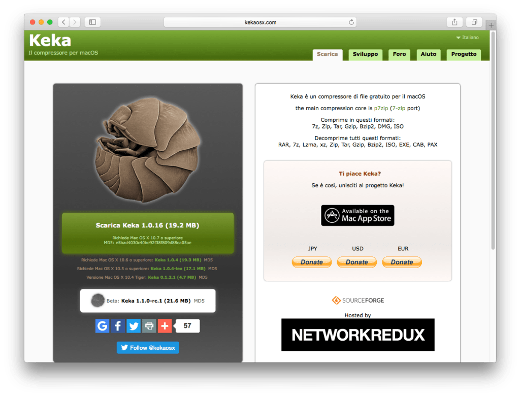 Mac OS - Home page - Keka