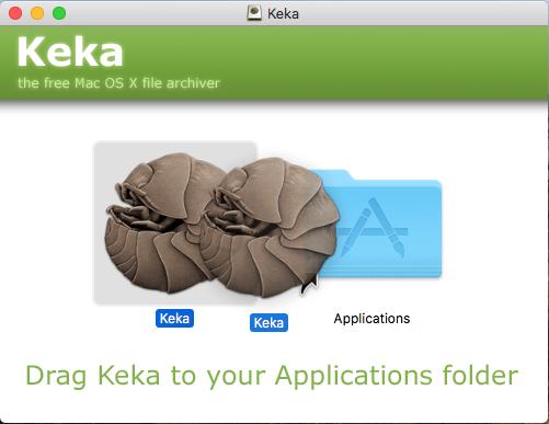 Mac Os - Trascinamento Keka 01