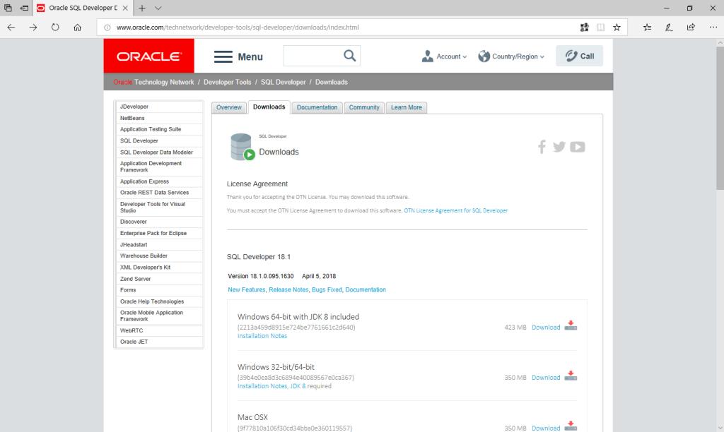Oracle Sql Developer - Download