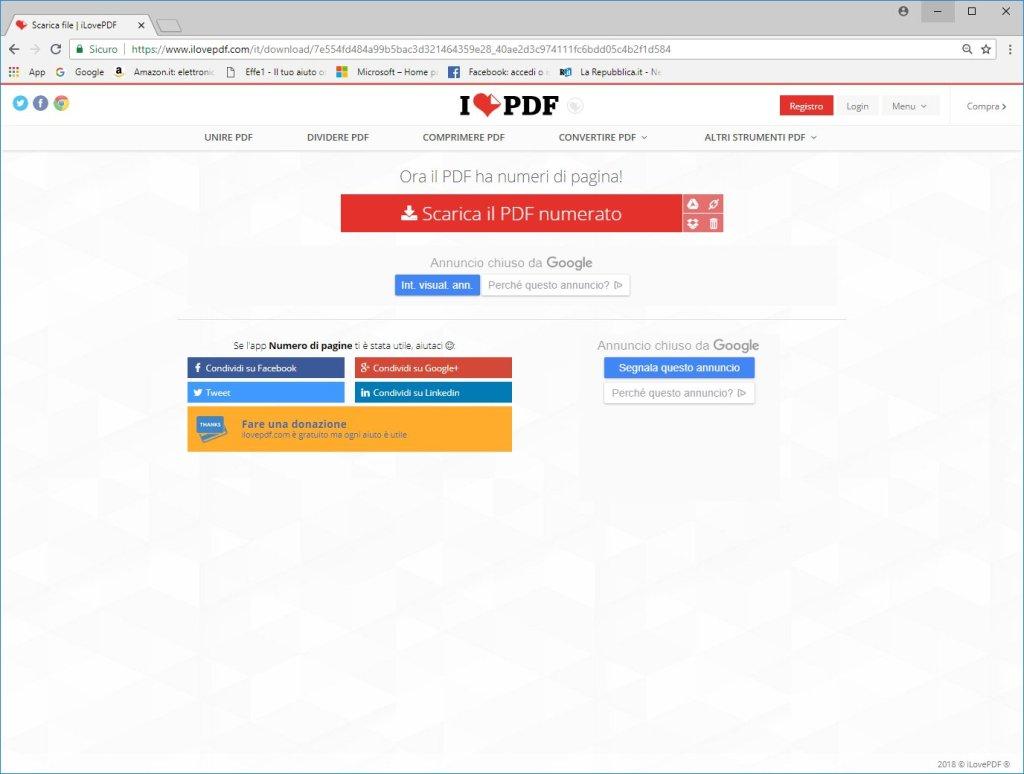 ILovePDF - Scarica PDF Numerato