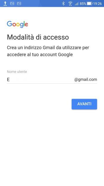 Android Oreo - Modalità di accesso - Compilato
