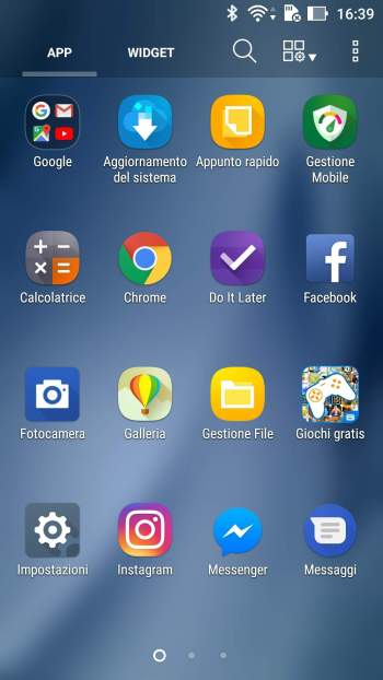 Google Android - App Impostazioni