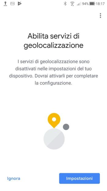 Google Home - Richiesta Abilitazione Geolocalizzazione Google Home