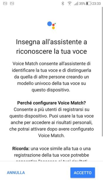 Google Home - Voice Match - Informativa 01