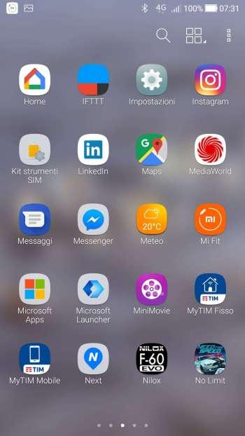 Android Oreo - App - Impostazioni