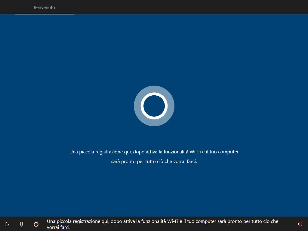 Windows 10 - v1803 - Installazione - Configurazione Cortana