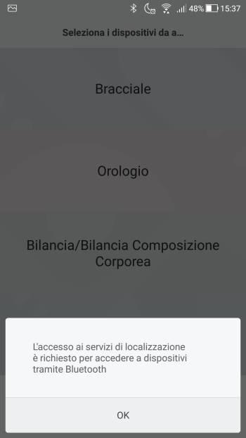 Xiaomi Mi Fit - Servizi localizzazione