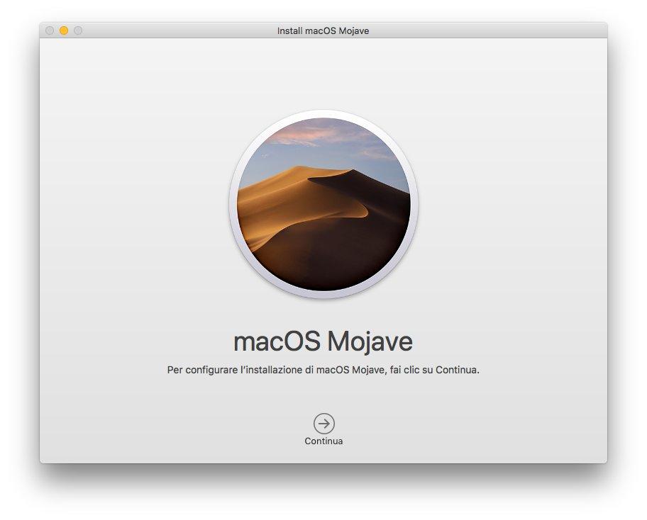macOS 1013 - Installa Mojave 01