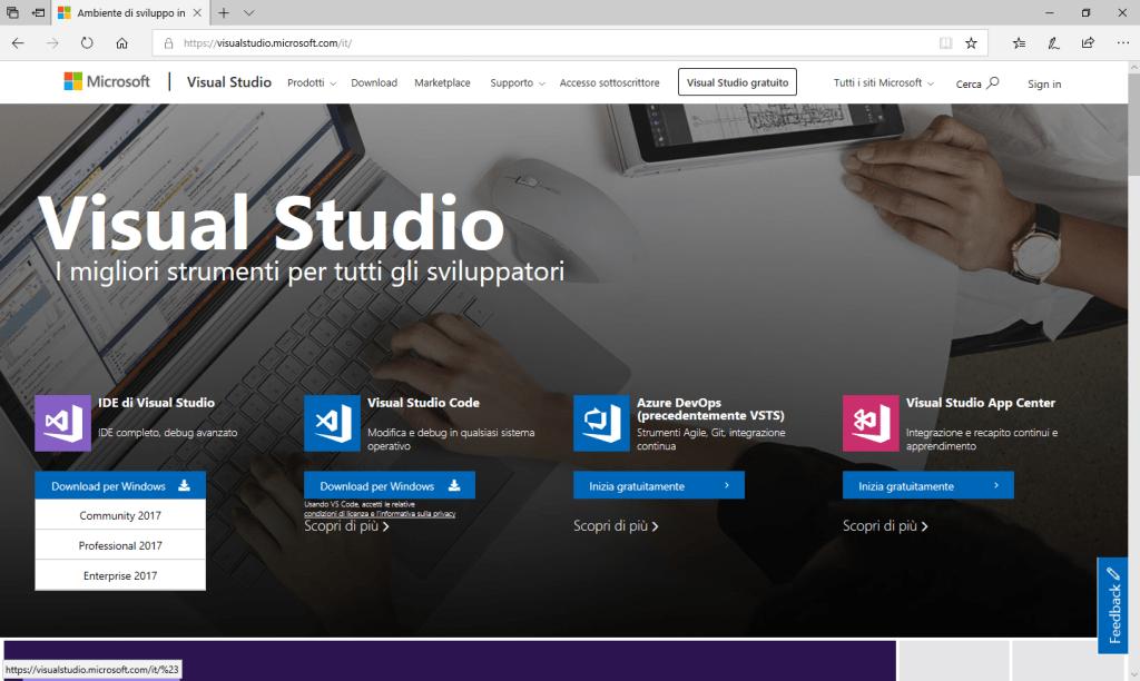 Microsoft Visual Studio - Scelta IDE