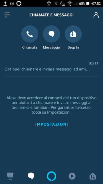 Amazon Alexa - Chiamate e messaggi