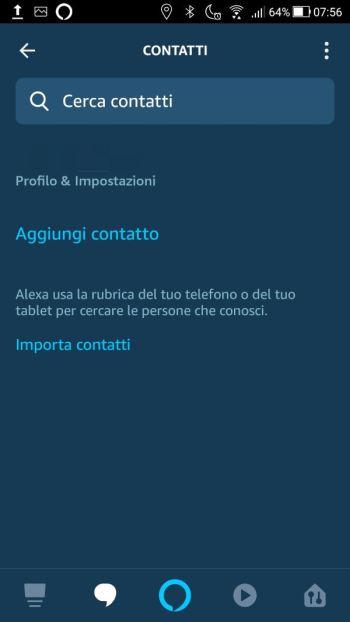 Amazon Alexa - Contatti