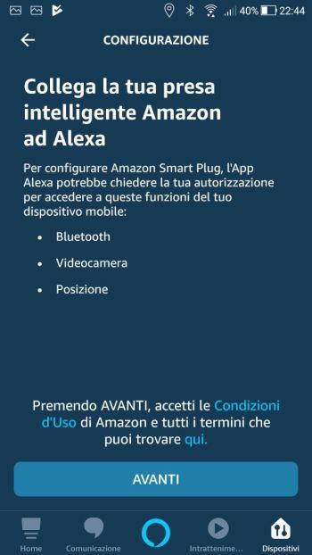 Amazon Alexa - App - Collega presa ad Alexa