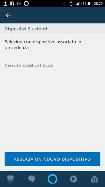 Amazon Alexa - Echo Plus - Impostazioni - Bluetooth