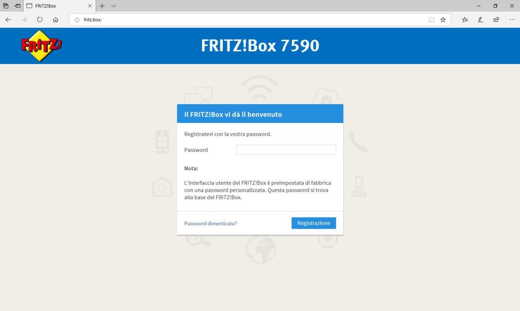 FritzBox - LogIn