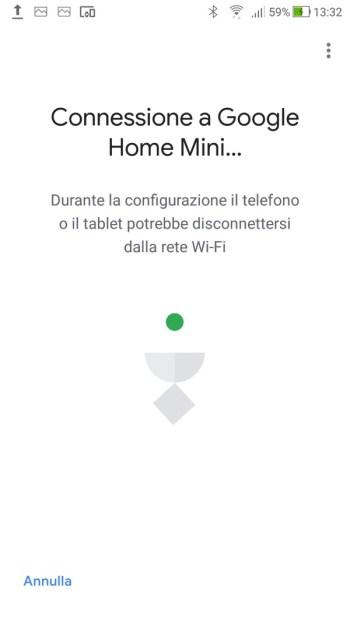 Google Home - Connessione in corso