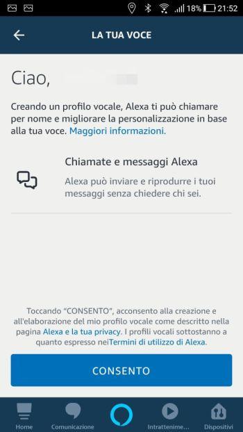 Amazon Alexa - App - La tua voce