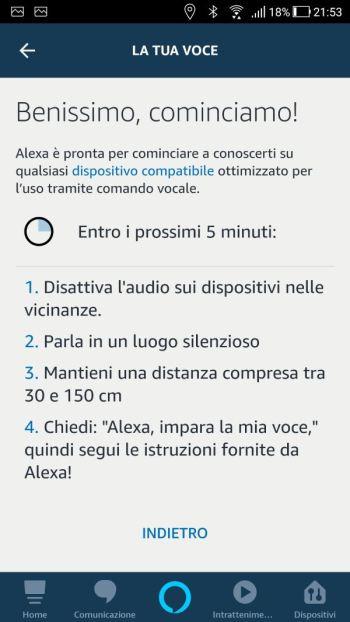 Amazon Alexa - App - La tua voce - Cominciamo